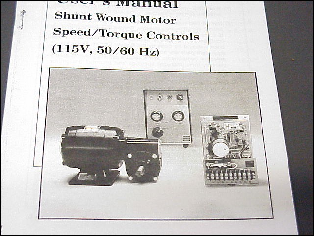 Details about Bodine ASH-400 DC Motor Controller Manual, Wiring Diagram, on